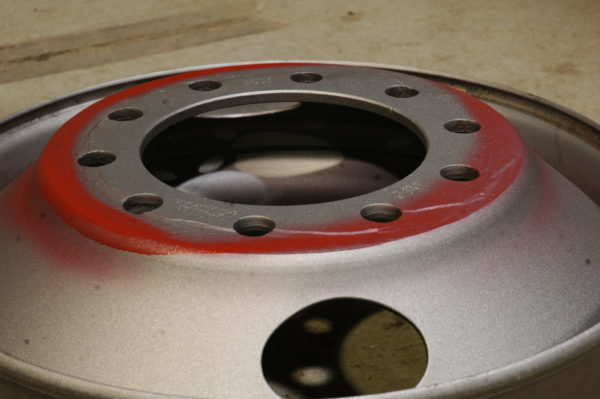Wheel damage uncovered after time in a blasting cabinet