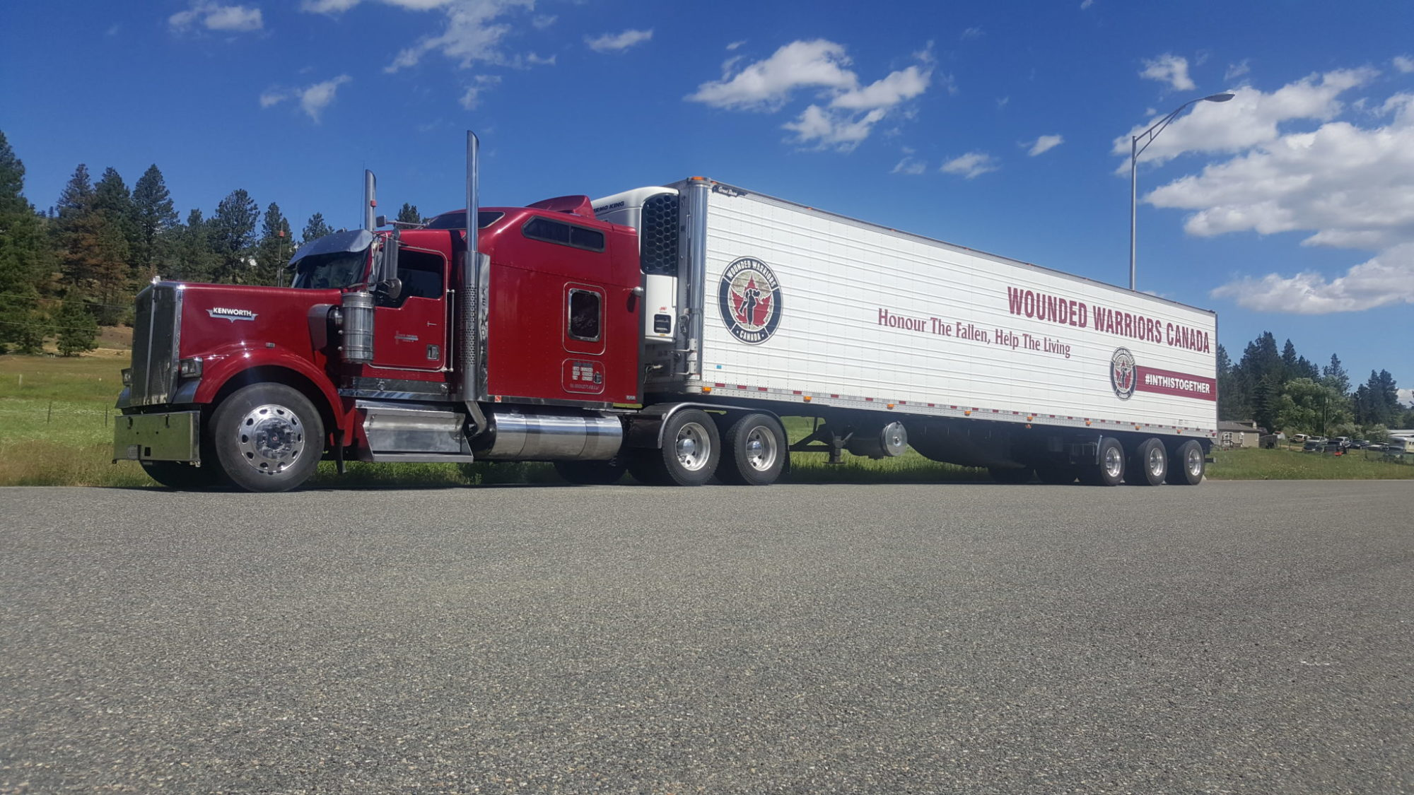 Faith Trucking vehicle graphics supporting Wounded Warriors Canada
