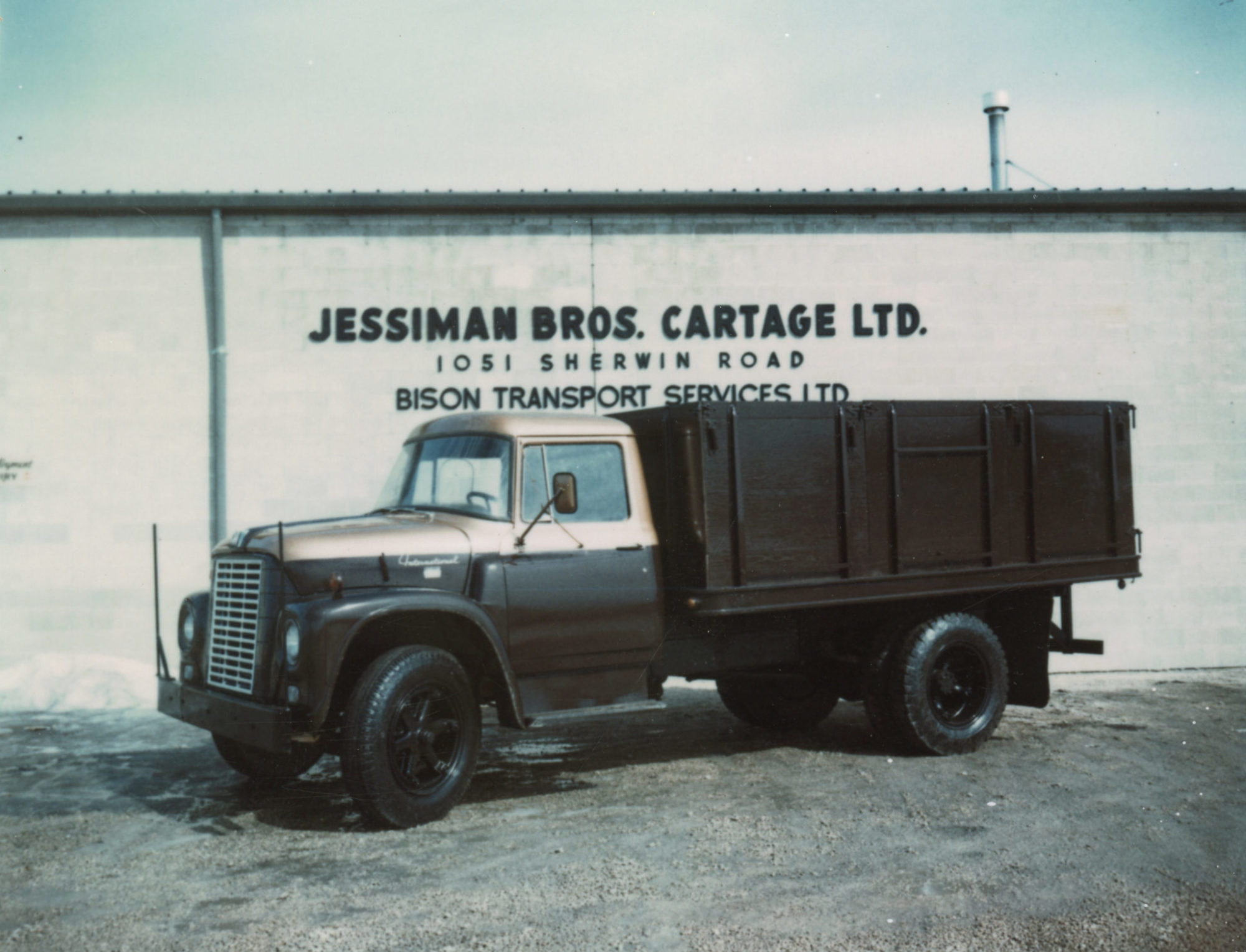 Bison Transport's first truck