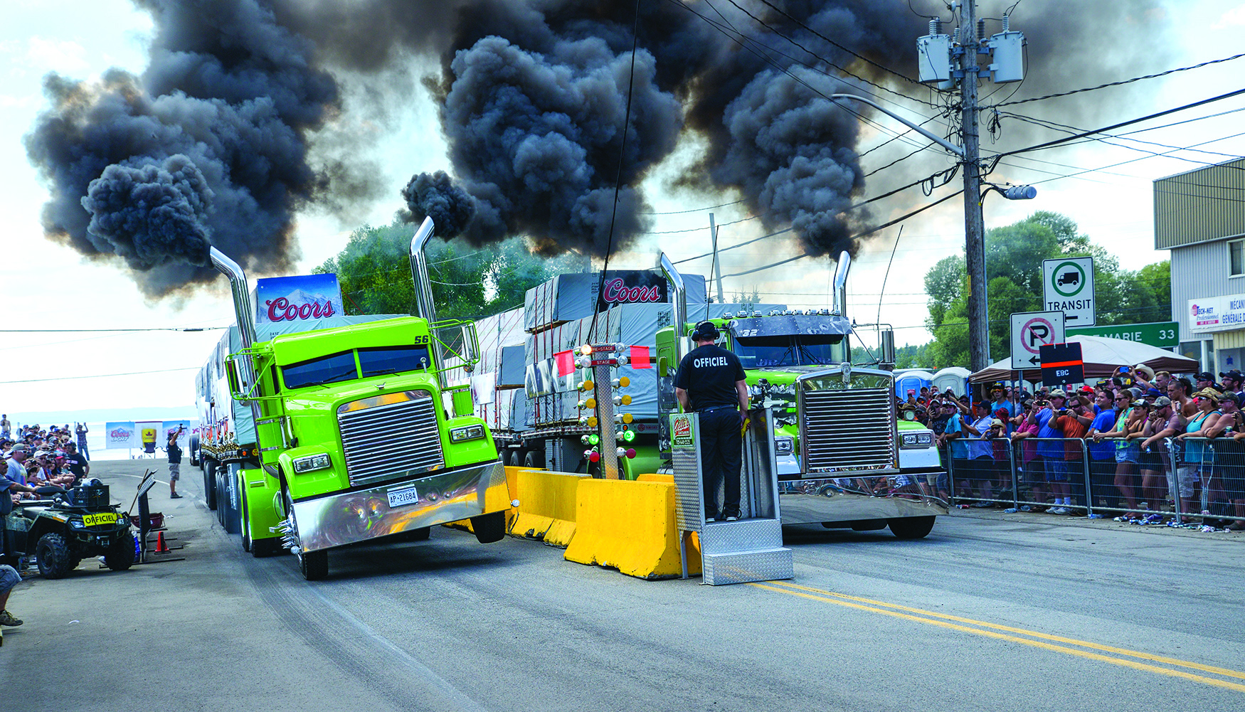 The truck races of Notre-Dame-du-Nord