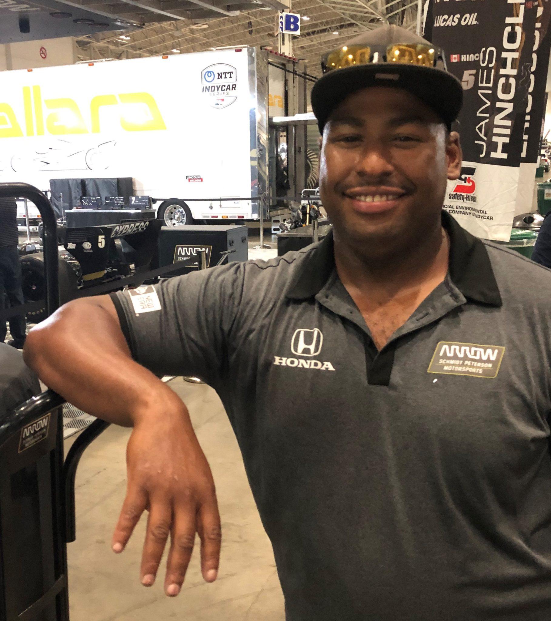 IndyCar truck driver Timothy Lane