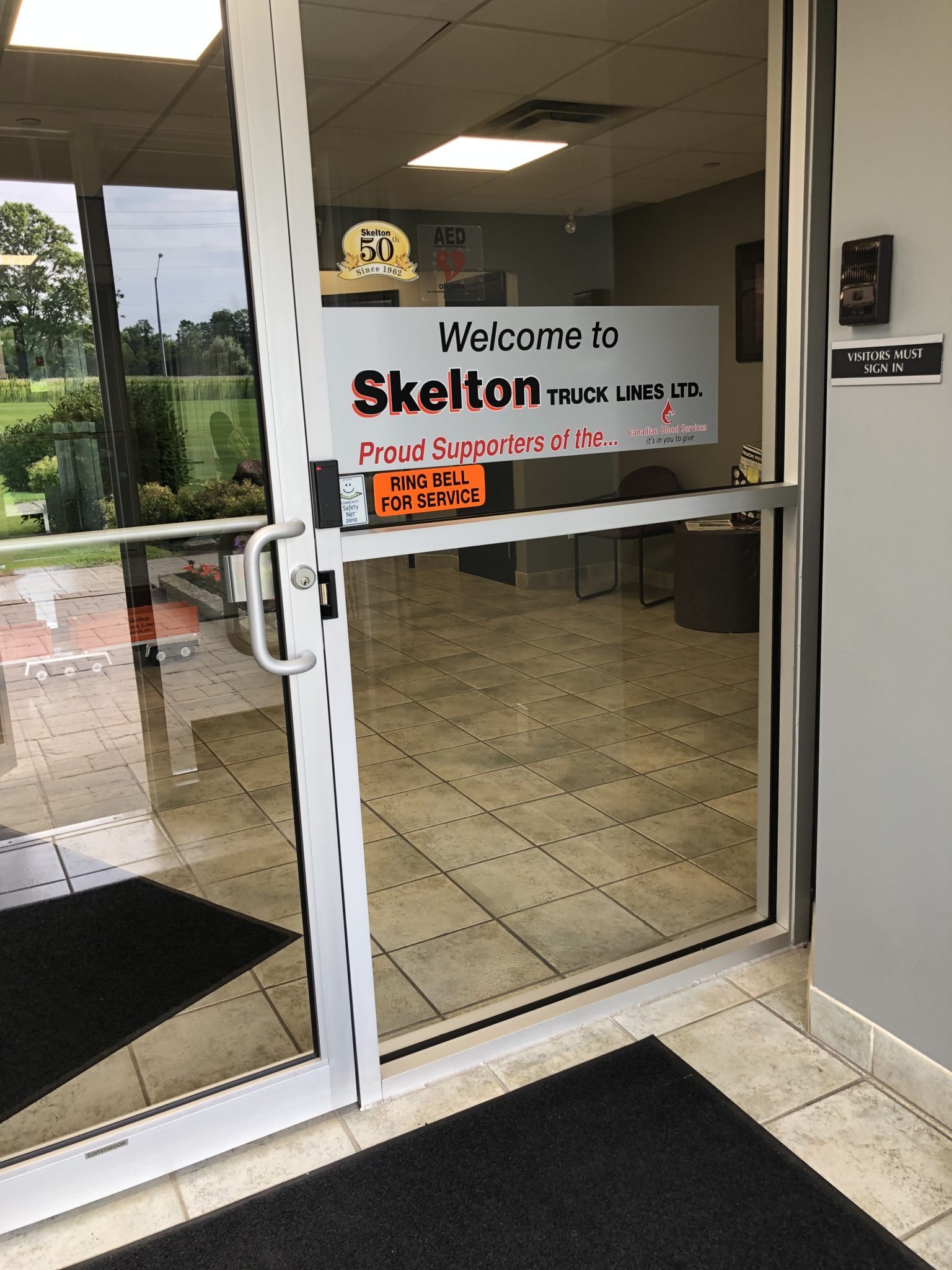 Skelton Truck Lines accessible door