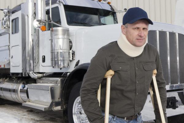 Truck driver injury