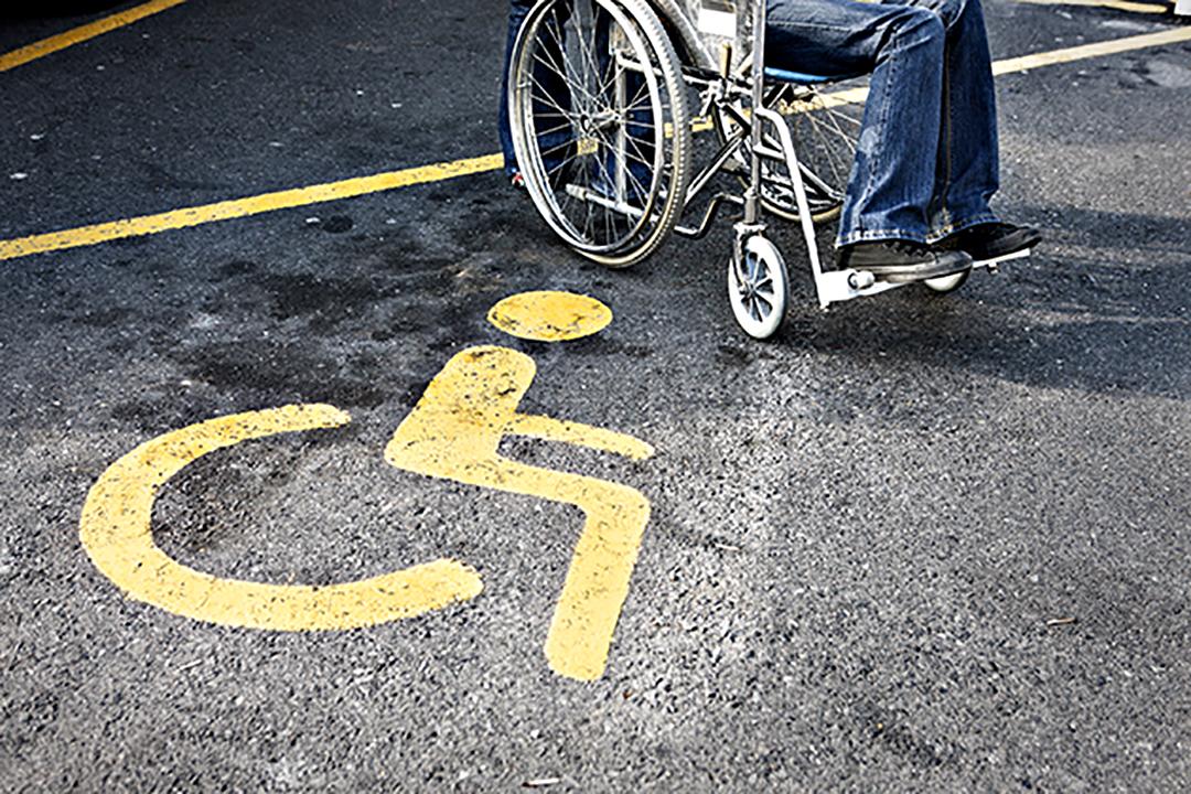 pavement marking showing wheelchair