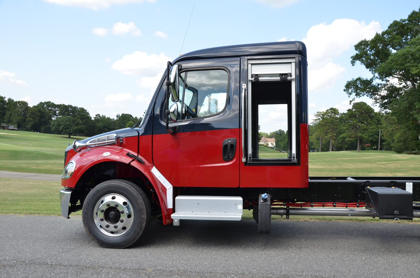 Freightliner M2 with rollup door