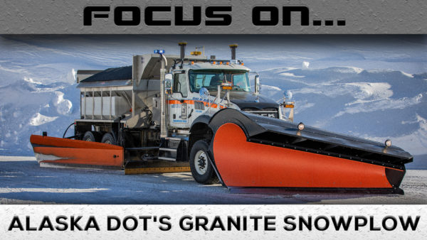 Mack Granite snow plow
